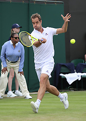 WIMBLEDON - UK - 28th June 2016: The Wimbledon Tennis Championships Day-2  at the All England Lawn Tennis Club, Wimbledon. S.E. London.<br /> <br /> Pic shows. Richard Gasquet ( France)<br /> Photo by Ian Jones