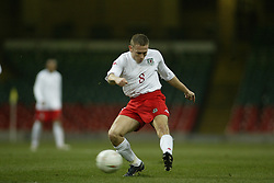 CARDIFF, WALES - WEDNESDAY FEBRUARY 9th 2005: Wales' Craig Bellamy in action against Hungary during the International Friendly match at the Millennium Stadium. (Pic by Jason Cairnduff/Propaganda)