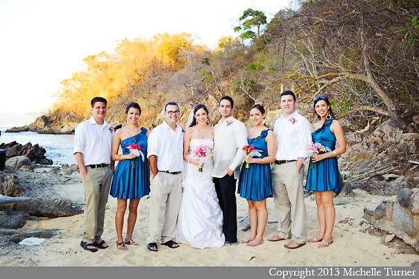 Karen and Rene's Las Caletas Wedding.  Images by Puerto Vallarta Wedding Photographer Michelle Turner.