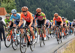 12.07.2019, Kitzbühel, AUT, Ö-Tour, Österreich Radrundfahrt, 6. Etappe, von Kitzbühel nach Kitzbüheler Horn (116,7 km), im Bild Riccardo Zoidl (AUT, CCC Team) im Gebrüder Weiss Trikot des besten Österreichers // Riccardo Zoidl of Austria (CCC Team) wearing the Gebrüder Weiss jersey of the best Austrian rider during 6th stage from Kitzbühel to Kitzbüheler Horn (116,7 km) of the 2019 Tour of Austria. Kitzbühel, Austria on 2019/07/12. EXPA Pictures © 2019, PhotoCredit: EXPA/ Reinhard Eisenbauer