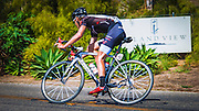 Professional cyclist at the Amgen Tour of California, Santa Barbara, California USA