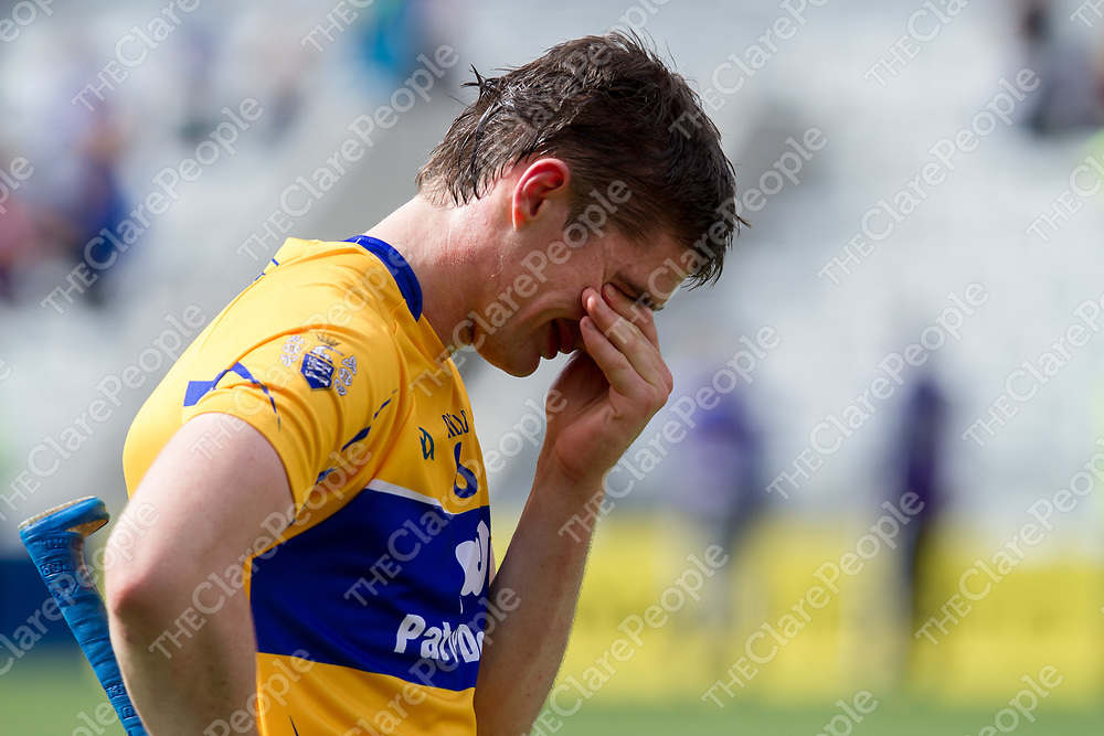 Clare's Conor Cleary shows his frustration after the final whistle