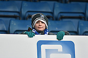 A young bury fan during the Sky Bet League 1 match between Bury and Walsall at Gigg Lane, Bury, England on 16 January 2016. Photo by Mark Pollitt.