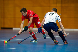 LEIZPIG - WC HOCKEY INDOOR 2015<br /> 05 RUS v SUI (Pool B)<br /> Foto: GREDER Martin duel with SPICHKOVSKIY Sergey.<br /> FFU PRESS AGENCY COPYRIGHT FRANK UIJLENBROEK