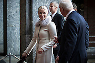 Norwegian Crown Princess Mette Marit arrives at The Nobel Peace Prize ceremony in Oslo.