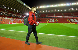 LIVERPOOL, ENGLAND - Wednesday, March 2, 2016: Liverpool's Adam Lallana arrives before the Premier League match against Manchester City at Anfield. (Pic by David Rawcliffe/Propaganda)