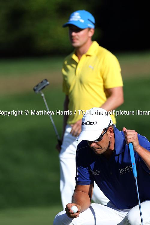 Henrik STENSON (SWE) and Jonas BLIXT (SWE) during fourth round US PGA Championship 2013,Oak Hill CC,