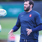 French player Lional Nallet at the French teams training session at Onewa Domain, Auckland in preparation for the Rugby World Cup Final against New Zealand at the IRB Rugby World Cup tournament, Auckland, New Zealand, 19th October 2011. Photo Tim Clayton...