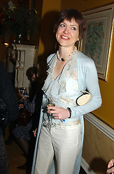 LADY ELIZABETH CECIL at a private view of jewellery designed and made by Luis Miguel Howard held at 30 Pavillion Road, London on 27th October 2004.<br />