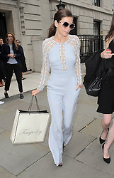 Actress Anna Friel attends the Temperley London catwalk show during London Fashion Week Spring Summer 2015 in London, UK. 14/09/2014<br />BYLINE MUST READ : GOTCHAIMAGES.COM<br /><br />Copyright by © Gotcha Images Ltd. All rights reserved.<br />Usage of this image is conditional upon the acceptance <br />of Gotcha Images Ltd, terms and conditions available at<br />www.gotchaimages.com