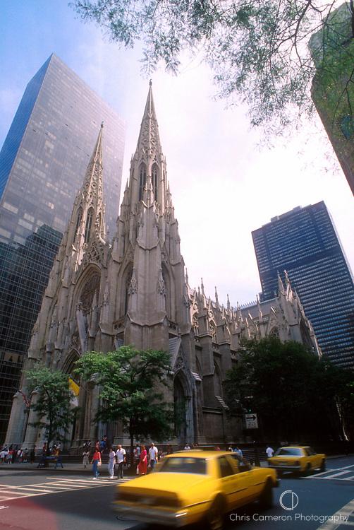St Patricks Cathedral, Manhattan, New York City, USA.