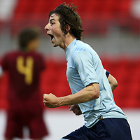 Scotland v Portugal U19 Euro Championships...28.05.07<br /> Darren Smith celebrates his goal<br /> <br /> Picture by Graeme Hart.<br /> Copyright Perthshire Picture Agency<br /> Tel: 01738 623350  Mobile: 07990 594431