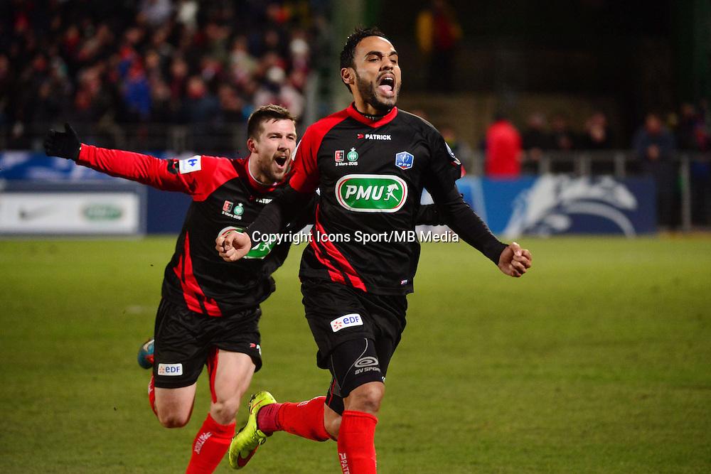 Joie Anthony SOUBERVIE - 03.03.2015 - Boulogne / Saint Etienne - 1/4Finale Coupe de France<br />Photo : Dave Winter / Icon Sport
