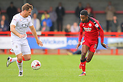 Crawley Town Midfielder Jason Banton battles for the ball during the EFL Sky Bet League 2 match between Crawley Town and Luton Town at the Checkatrade.com Stadium, Crawley, England on 17 September 2016. Photo by Phil Duncan.