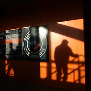 NEW YORK, NEW YORK - APRIL 27:  Fans arriving to Citi Field as the late afternoon sun lights a stair well during the New York Mets Vs Cincinnati Reds MLB regular season game at Citi Field on April 27, 2016 in New York City. (Photo by Tim Clayton/Corbis via Getty Images)