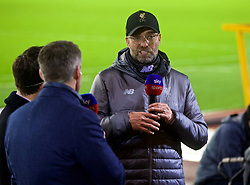 WOLVERHAMPTON, ENGLAND - Friday, December 21, 2018: Liverpool's manager Jürgen Klopp gives a post-match interview to Sky Sports after the FA Premier League match between Wolverhampton Wanderers FC and Liverpool FC at Molineux Stadium. Liverpool won 2-0. (Pic by David Rawcliffe/Propaganda)