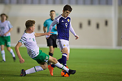 EDINBURGH, SCOTLAND - Friday, November 4, 2016: Scotland's Marc Leonard in action against Republic of Ireland's Nathan Collins during the Under-16 2016 Victory Shield match at ORIAM. (Pic by David Rawcliffe/Propaganda)