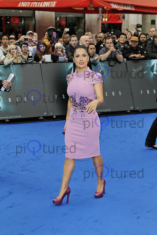 LONDON - MAY 31: Salma Hayek attends the World Film Premiere of 'Prometheus' at the Empire Cinema, Leicester Square, London, UK. May 31, 2012. (Photo by Richard Goldschmidt)