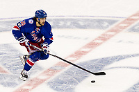 New York NY February 28 New York Rangers Right Wing Mats Zuccarello 36 takes The Puck across Center Ice during The First Period of A Metropolitan Divisional Match Up between The Washington Capitals and The New York Rangers ON February 28 2017 AT Madison Square Garden in New York NY Photo by David Cock Icon Sports Wire NHL Ice hockey men USA Feb 28 Capitals AT Rangers <br /> Norway only<br /> KUN STYKKPRIS