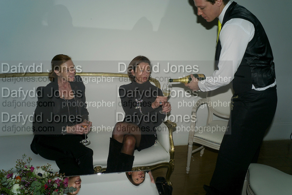 DEE STIRLING; GILLIAN CROTTY - THE LAUNCH OF THE KRUG HAPPINESS EXHIBITION AT THE ROYAL ACADEMY, London. 12 December 2011.