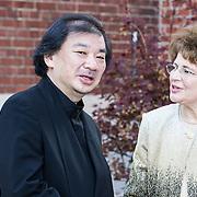 NLD/Amsterdam/20140613 - Prinses Beatrix bij de uitreiking van de Pritzker Achitecture Prize 2014, Mr. Shigeru Ban