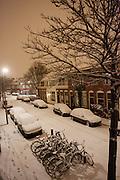 De eerste sneeuw van de winter van 2009/2010 is gevallen