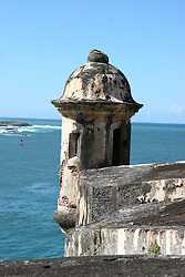 Sentinel box watches over the Puerto Rican coast, San Juan National Historic Site.<br />