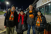 Barnet fans arriving before the The FA Cup fourth round match between Barnet and Brentford at Hive Stadium, London, England on 28 January 2019.
