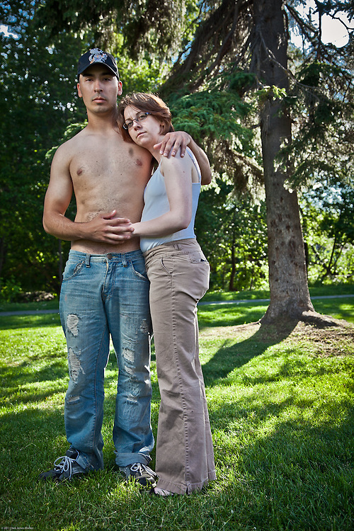 Israel Galvez and Rachel Mead at Valley of the Moon Park, Anchorage