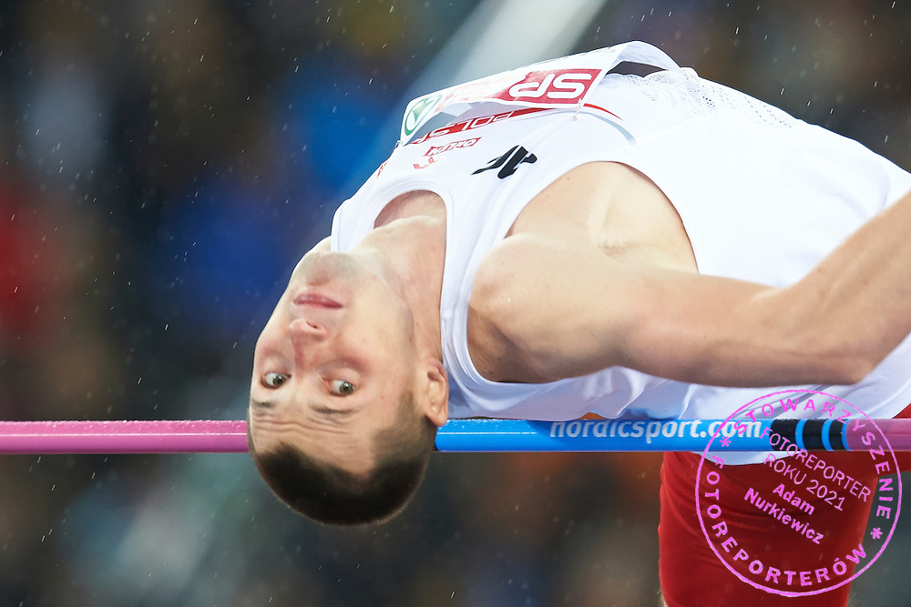 Wojciech Theiner from Poland competes in men's high jump during the Fourth Day of the European Athletics Championships Zurich 2014 at Letzigrund Stadium in Zurich, Switzerland.<br /> <br /> Switzerland, Zurich, August 15, 2014<br /> <br /> Picture also available in RAW (NEF) or TIFF format on special request.<br /> <br /> For editorial use only. Any commercial or promotional use requires permission.<br /> <br /> Photo by &copy; Adam Nurkiewicz / Mediasport