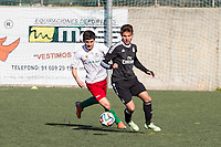 Trival Valderas's -- and Real Madrid Castilla´s  -- during 2014-15 Spanish Second Division B match between Trival Valderas and Real Madrid Castilla at La Canaleja stadium in Alcorcon, Madrid, Spain. February 01, 2015. (ALTERPHOTOS/Luis Fernandez)
