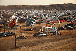 November 25, 2016 - Cannon Ball, North Dakota, U.S - A view of the Oceti Sakowin Camp at the Standing Rock Indian Reservation in Cannon Ball, North Dakota. (Credit Image: © Joel Angel Juarez via ZUMA Wire)