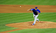 Apr. 29 2011; Phoenix, AZ, USA; Chicago Cubs starting pitcher Carlos Zambrano pitches during against the Arizona Diamondbacks at Chase Field. Mandatory Credit: Jennifer Stewart-US PRESSWIRE..