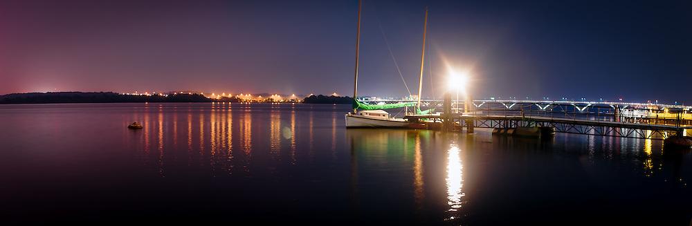 Night over Waterfront Park. Alexandria, VA