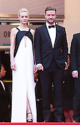 Justin Timberlake & Carey Mulligan attend the 'Inside Llewyn Davis' Red Carpet during the 66th Annual Cannes Film Festival at the Palais des Festivals on May 19, 2013 in Cannes, France.