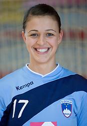 Portrait of Mirjana Gojkovic of Slovenian Handball Women National Team, on June 3, 2009, in Arena Kodeljevo, Ljubljana, Slovenia. (Photo by Vid Ponikvar / Sportida)