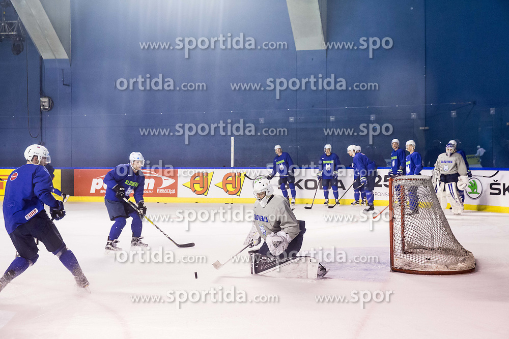 Gasper Kroselj of Slovenia during practice session of Team Slovenia at the 2017 IIHF Men's World Championship, on May 8, 2017 in Accorhotels Arena in Paris, France. Photo by Vid Ponikvar / Sportida