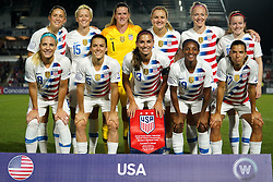 October 11, 2018 - Cary, North Carolina, United States - CARY, NC - OCTOBER 10: .USA Team.During CONCACAF Women's Championship Group A match between Trinidad and Tobago against USA at Sahlen's Stadium, Cary, North Carolina. on October 10, 2018  (Credit Image: © Action Foto Sport/NurPhoto via ZUMA Press)