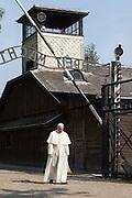 Oswiecim, Poland. 28.07.2016 Pope francis in the nazi death camp Auschwitz. Photo: Krystian Maj/FORUM