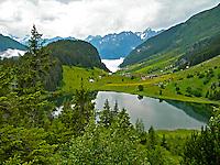 Beautiful view of Golzern in Central Switzerland in summer.