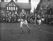 Saturday 13th March, 1954, Irish Rugby Football Union, Ireland v Wales, Five Nations, Landsdowne Road,  Dublin, Ireland, Saturday .13.3.1954, 3.13.1954,..Referee- A W C Austin, Scottish Rugby Union, Score- Ireland 9 - 12 Wales, P Berkery, Wearing number 15 Irish jersey, Full back, Landsdowne Rugby Football Club, Dublin, Ireland,..M Mortell, Wearing number 14 Irish jersey, Right wing, Bective Rangers Rugby Football Club, Dublin, Ireland, ..N J Henderson, Wearing number 13 Irish jersey, Right centre, Rugby Football Club, Belfast, R P Godfrey, Wearing number 12 Irish jersey, Left Centre, University College Dublin Rugby Football Club, Dublin, Ireland,..J T Gaston, Wearing number 11 Irish jersey, Left wing, Dublin University Rugby Football Club, Dublin, Ireland, ..S Kelly, Wearing number 10 Irish jersey, Stand Off, Landsdowne Rugby Football Club, Dublin, Ireland, ..J A O'Meara, Wearing number 9 Irish jersey, Scrum half, Dolphin Rugby Football Club, Cork, Ireland, ..J H Smith, Wearing number 1 Irish jersey, Forward,  London Irish Rugby Football Club, Surrey, England, ..R Roe, Wearing number 2 Irish jersey, Forward, Dublin University Rugby Football Club, Dublin, Ireland,..F E Anderson, Wearing number 3 Irish jersey, Forward, Queens University Rugby Football Club, Belfast, Northern Ireland,..J R Brady, Wearing number 4 Irish jersey, Forward, C I Y M S Rugby Football Club, Belfast, Northern Ireland, ..R H Thompson, Wearing number 5 Irish jersey, Forward, Instonians Rugby Football Club, Belfast, Northern Ireland, J S McCarthy, Wearing number 6, Captain of the Irish team, Forward, Dolphin Rugby Football Club, Cork, Ireland, R Kavanagh, Wearing number 7 Irish jersey, Forward, Wanderers Rugby Football Club, Dublin, Ireland, ..G Reidy, Wearing number 8 Irish jersey, Forward, Dolphin Rugby Football Club, Cork, Ireland, and, Landsdowne Rugby Football Club, Dublin, Ireland, Welsh Team, ..V Evans, Wearing number 1 Welsh jersey, F