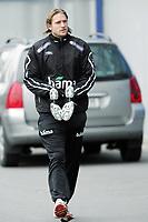 Fotball / Football<br /> Trening Norge foran Play Off mot Tsjekkia<br /> Training Norway in front of the play off match v Czech Republic<br /> Praha / Prague<br /> 15.11.2005<br /> Foto: Morten Olsen, Digitalsport<br /> <br /> Thorstein Helstad - Rosenborg