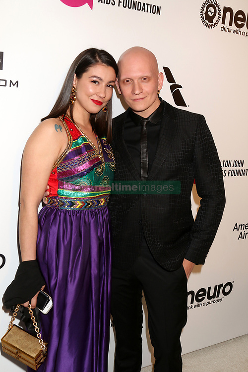 February 24, 2019 - West Hollywood, CA, USA - LOS ANGELES - FEB 24:  Gia Olimp, Anthony Carrigan at the Elton John Oscar Viewing Party on the West Hollywood Park on February 24, 2019 in West Hollywood, CA (Credit Image: © Kay Blake/ZUMA Wire)