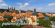 Skyline of Bamberg in Franconia, Bavaria, Germany