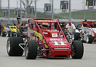 05 MAY 2007: Dustin Morgan (11D) of Walker-Guiducci Racing drives down pit lane before the Casey's General Stores USAC Triple Crown at the Iowa Speedway in Newton, Iowa on May 5, 2007.