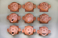 Ceramic Monkeys at the entrance to Baan Ling Noi Villa, Bophut Hills, Koh Samui, Thailand
