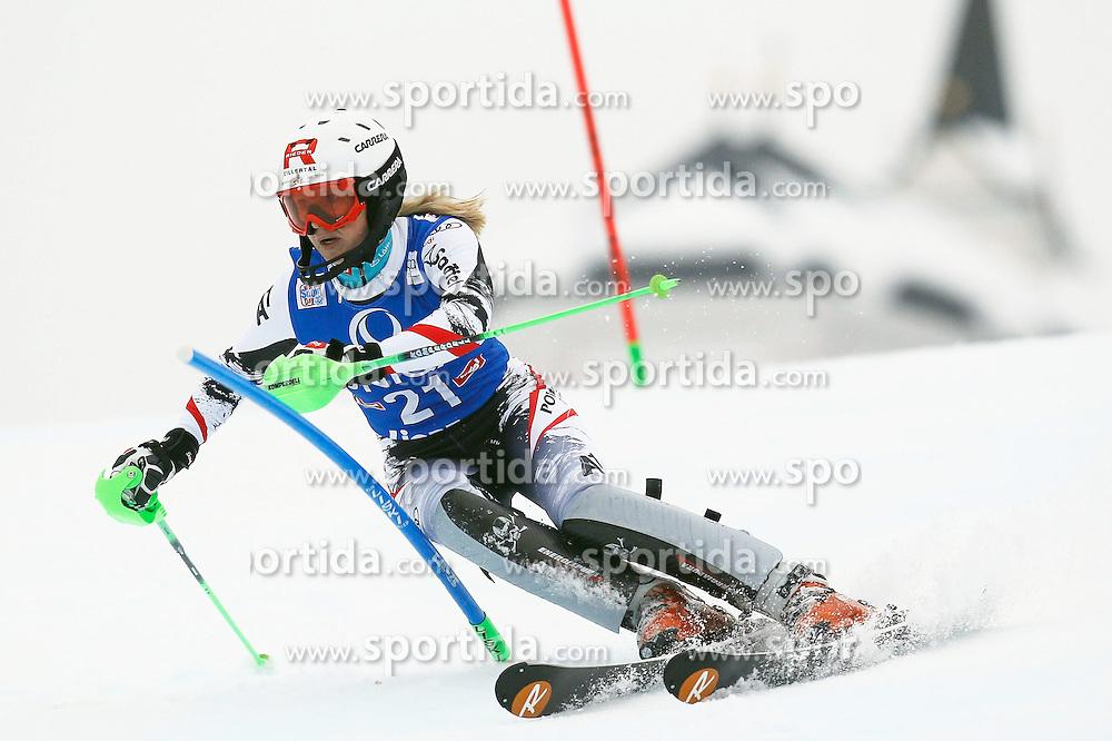 29.12.2013, Hochstein, Lienz, AUT, FIS Weltcup Ski Alpin, Damen, Slalom 2. Durchgang, im Bild Alexandra Daum (AUT) // Alexandra Daumof (AUT) during ladies Slalom 2nd run of FIS Ski Alpine Worldcup at Hochstein in Lienz, Austria on 2013/12/29. EXPA Pictures © 2013, PhotoCredit: EXPA/ Oskar Höher