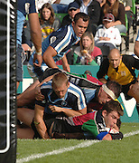 2005_06 National Division One, NEC Harlequins vs Newbury, Quins Nick Easter touches down in the second half. Twickenham Stoop: 17.09.2005   © Peter Spurrier/Intersport Images - email images@intersport-images..