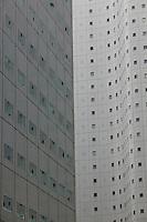 Japan Tokyo Shinjuku building exterior close-up