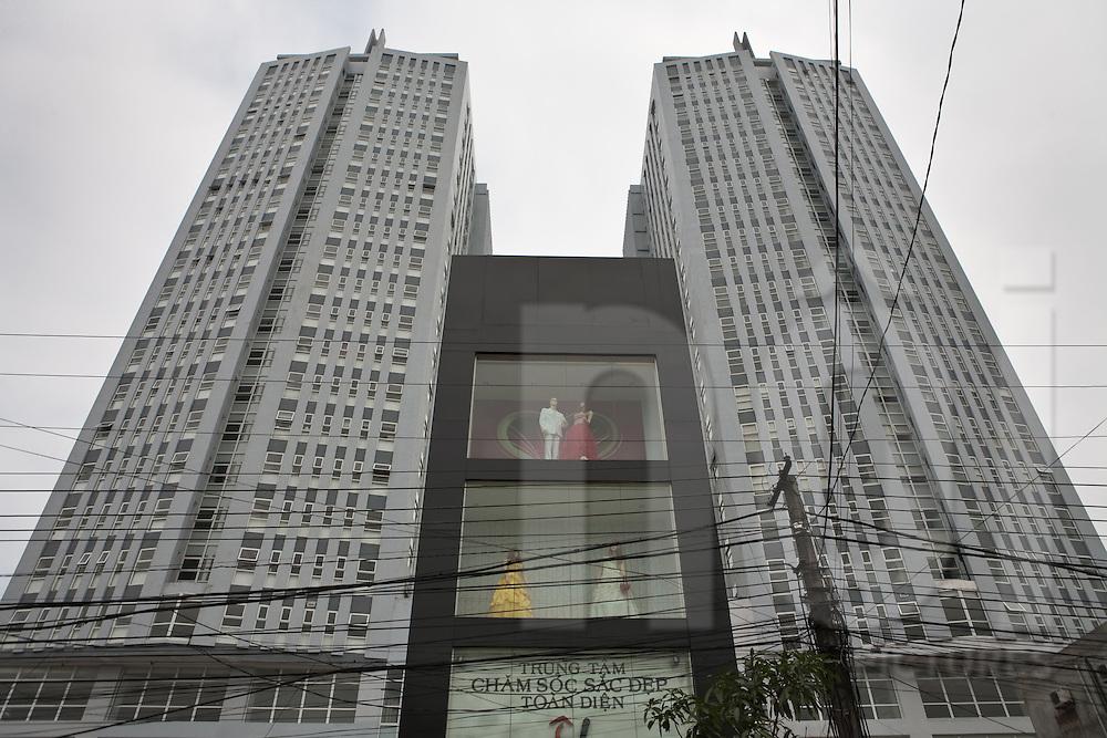 Tòa nhà D?u khí Ngh? An, new building of Oil company 'Petrol Nghe An', Vinh, Vietnam, Asia